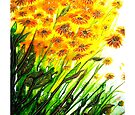 Sizzling Sunflowers  by Linda Callaghan