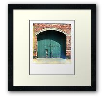 The Green Door that leads to Adventure... Framed Print