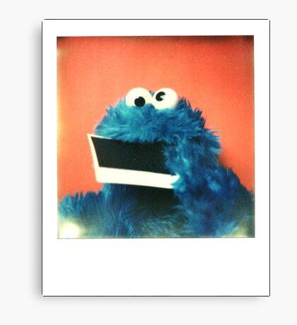 """Me want Polaroid!!! nom, nom, nom..."" Canvas Print"