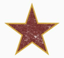 Vintage look Red and Gold Star Kids Clothes