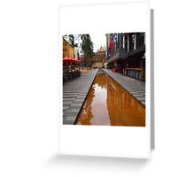 City Square on a wet day Melbourne VIC Australia Greeting Card
