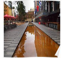 City Square on a wet day Melbourne VIC Australia Poster