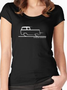 VW Bus Crew Cab Bay Window T2 Women's Fitted Scoop T-Shirt