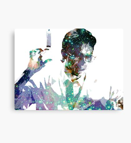 Reanimator | Herbert West | Jeffery Combs | Galaxy Horror Icons Canvas Print