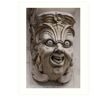 Paris gargoyle Art Print