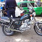 Cuba Policia motorcycle by Dianne Grist
