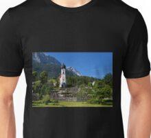 Catholic Parish Church of Grainau and Mount Zugspitze Unisex T-Shirt