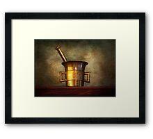 Pharmacist - Mortarium Framed Print