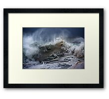 Winter Waves At Pipeline 6 Framed Print