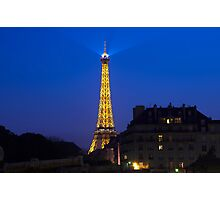 Eifel Tower in the Evening Photographic Print