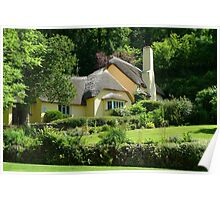 Cottage at Selworthy Green Poster