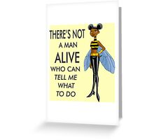 Bumblebee the Feminist Greeting Card