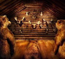 Taxidermy - Home of the three bears by Mike  Savad