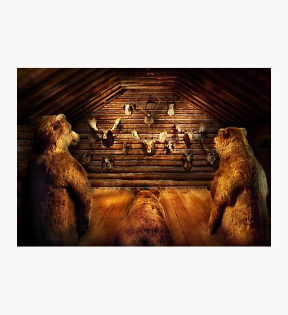 Taxidermy - Home of the three bears Photographic Print