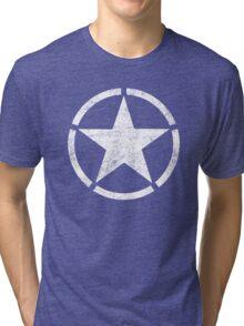 Vintage look US Army Star Tri-blend T-Shirt