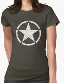 Vintage look US Army Star Womens Fitted T-Shirt