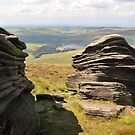 Rocks in Kinder Scout, Derbyshire, UK by Catherine Ames