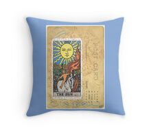 The Sun Tarot Card Throw Pillow