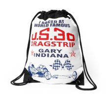 U.S.30 Dragstrip Shirt Drawstring Bag