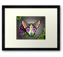 Day of the Dead Chihuahua in Moo Sugar Skull Dog Framed Print