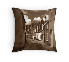 Peperstraat Bruges Throw Pillow