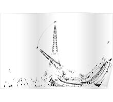 Falling Eiffel Tower  Poster