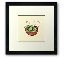 pot o cacti Framed Print