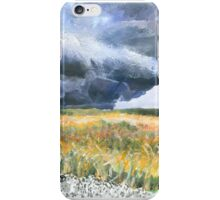 thunderstorm over Montana wheat field iPhone Case/Skin