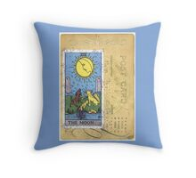The Blue Moon Tarot Card Fortune Teller Throw Pillow