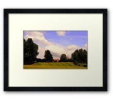 Down hill field Framed Print