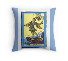 The Fool Tarot Card Throw Pillow
