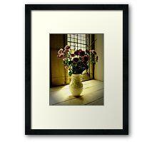 Flowered Window Light Raphoe, Donegal, Ireland Framed Print