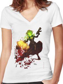 Anne Frankenstein AF2 Women's Fitted V-Neck T-Shirt