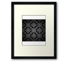 art black Framed Print