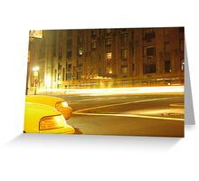 Upper West by taxi Greeting Card