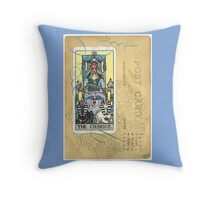 The Chariot Tarot Post Card Throw Pillow