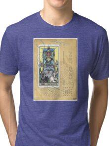 The Chariot Tarot Post Card Tri-blend T-Shirt
