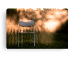 Sitting in Gold Canvas Print