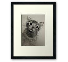 Please? Framed Print