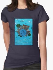 Bridge in the city Womens Fitted T-Shirt