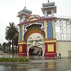Luna Park on a rainy day by Suzanne Newbury
