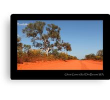 ''Ghost Gums & Red Dirt'' Canvas Print