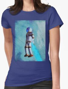 Space Jumping Womens Fitted T-Shirt