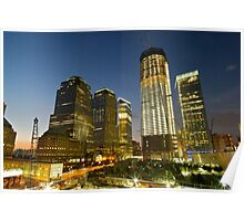 World Trade Centre Sunset Poster