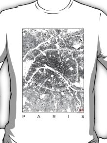 Paris Schwarzplan T-Shirt