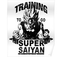 Training to go super saiyan - Vintage Poster