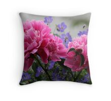 Peony - An omen of a Happy Marriage Throw Pillow