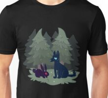 Bunny and the wolf Unisex T-Shirt