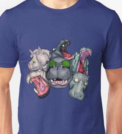 Six Hippos Raving Unisex T-Shirt