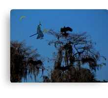 Witch and the Vultures Canvas Print